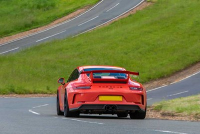 Porsche on climb at Millbrook Proving Ground