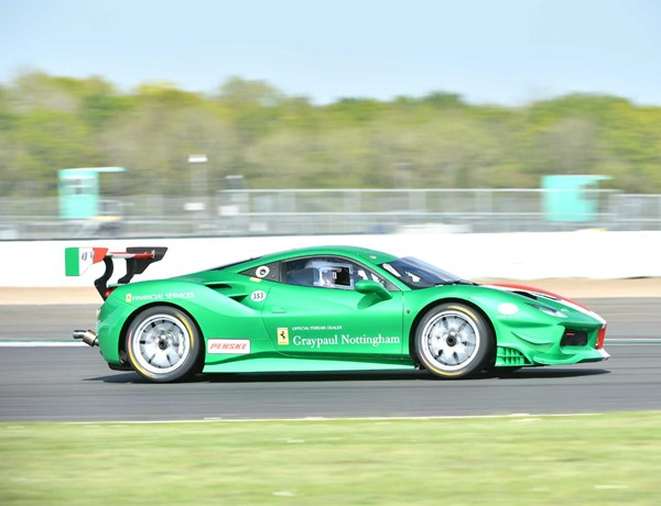 Race Academy Green Ferrari on Circuit