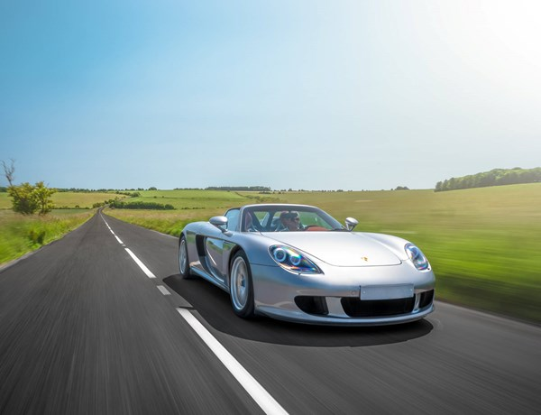 Carrera GT Car Photography On Road