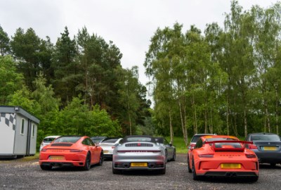 Porsche Line up at CAT Driver Training in Millbrook