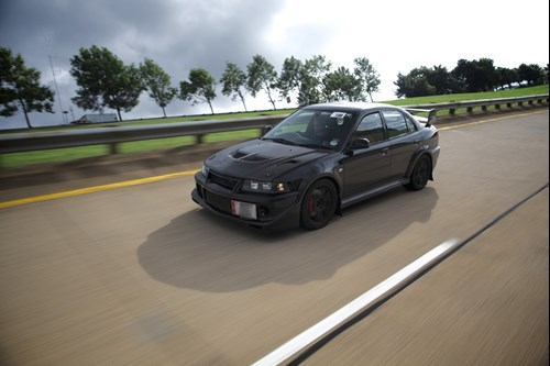Evo on high speed bowl millbrook proving ground