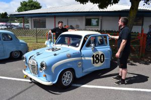 Awaiting the race with Track Toys Racing Austin A35