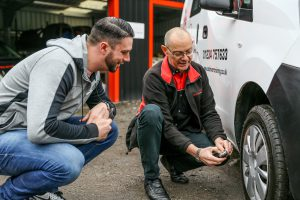 Tyre pressure checks with CAT Driver Training