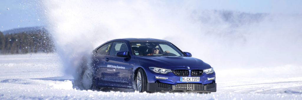 Ice Driving BMW M4 Competition