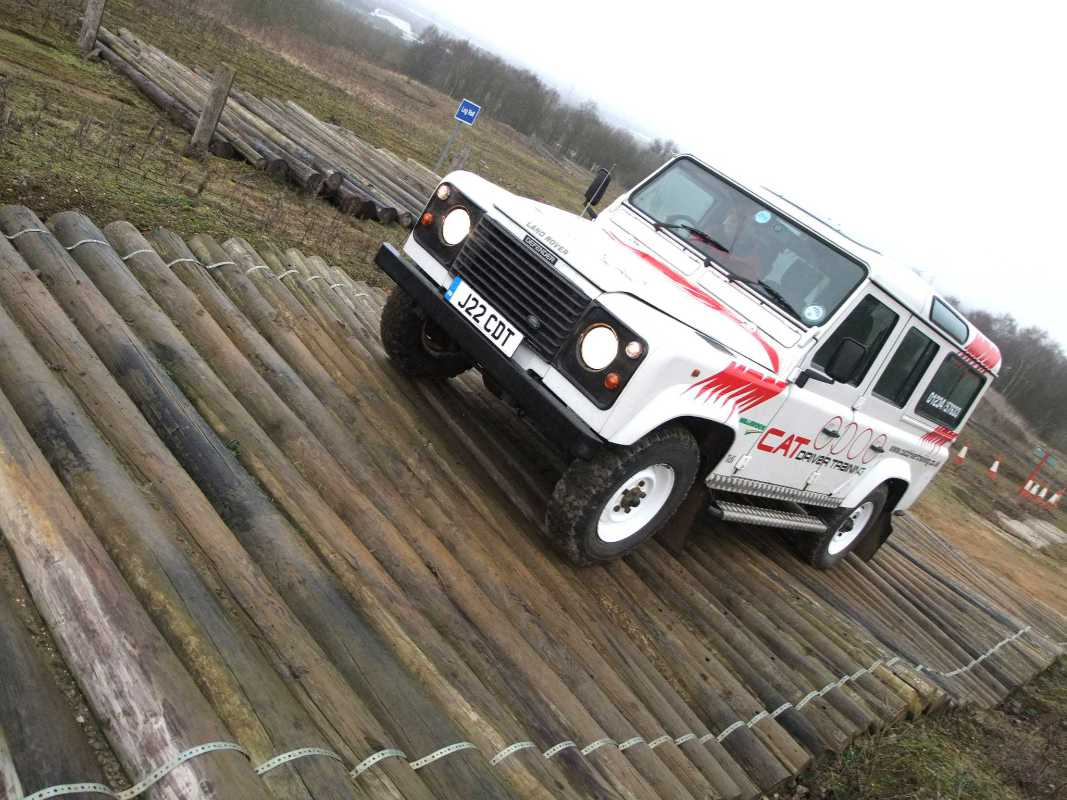 Land Rover training on Millbrook Proving Ground