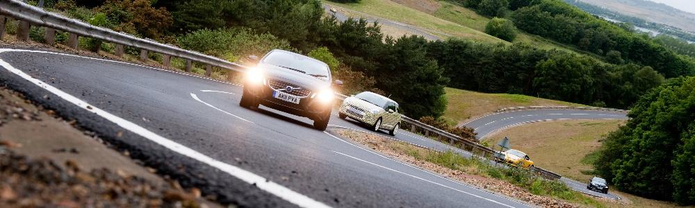 Millbrook Proving Ground Cars on Track