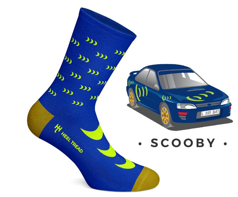 Scooby Car Socks Heal Tread