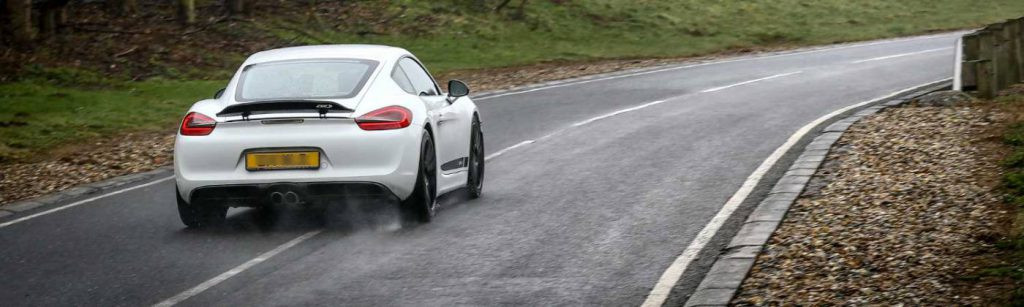 White Porsche at Millbrook Proving Ground