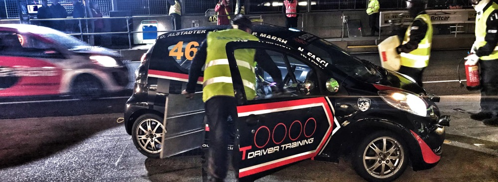 Pit stop at night silverstone